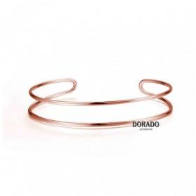BRAZALETE PLATA IP ORO ROSA DOBLE - 244/PU00080RO