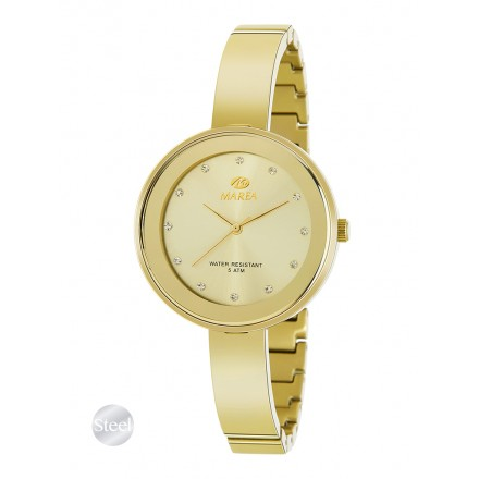 Reloj Marea mujer dorado correa semirrigida estrecha - B54143/4