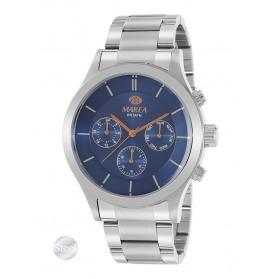 Reloj Marea hombre acero fondo azul marino detalles IP oro rosa - B54149/3