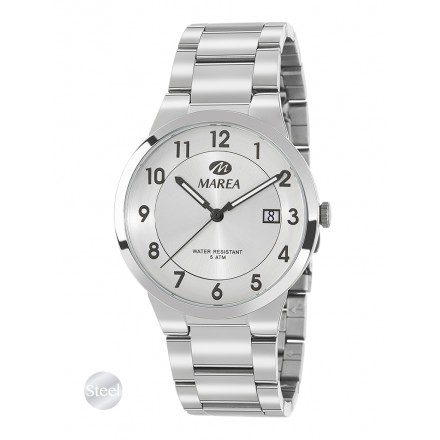 Reloj Marea hombre acero fondo numeros negros - B54114/1