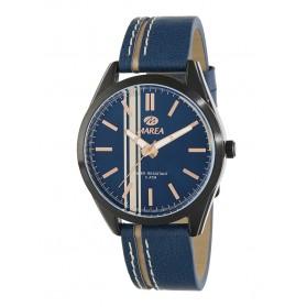 Reloj Marea hombre piel azul linea lateral beige - B54135/4