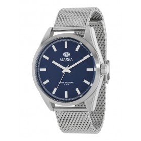 Reloj Marea hombre correa malla acero fondo azul marino - B54099/3