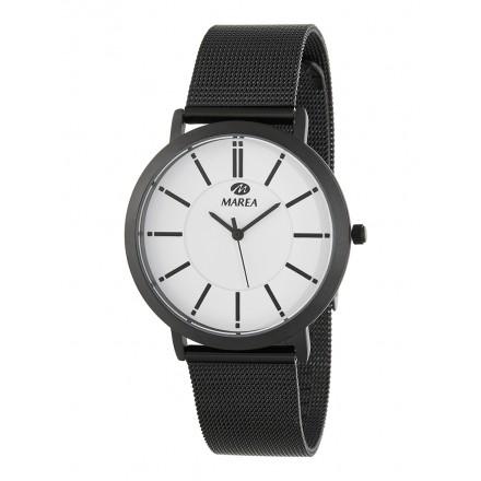 Reloj Marea hombre malla negra fondo blanco - B21176/11