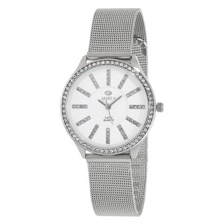 Reloj Marea mujer malla plateada circonitas - B21149/1