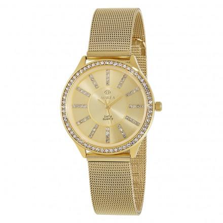 Reloj Marea mujer malla dorada circonitas - B21149/3