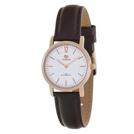 Reloj Marea mujer caja ip oro rosa correa piel marron - B36124/4