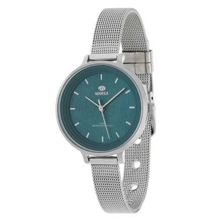 Reloj Marea mujer malla acero estrecha fondo verde botella - B41198/12