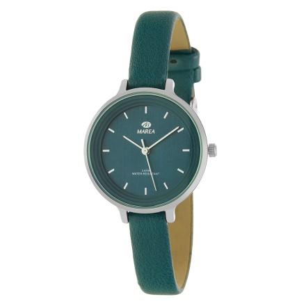 Reloj Marea mujer correa piel estrecha verde botella - B41227/13