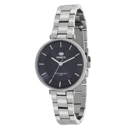 Reloj Marea mujer plateado fondo negro B54116/2
