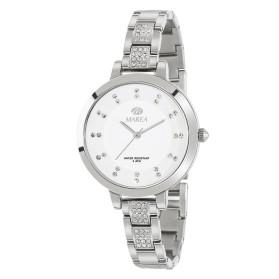 Reloj Marea plateado correa estrecha circonitas - B54136/1