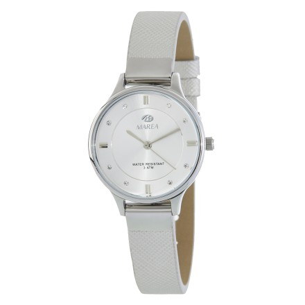 Reloj Marea mujer correa estrecha piel plateado - B54139/1