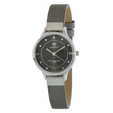 Reloj Marea mujer correa estrecha piel gris - B54139/4