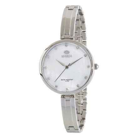 Reloj Marea plateado correa estrecha fondo nacarado - B54142/1