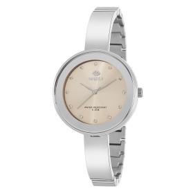 Reloj Marea mujer plateado fondo salmon correa semirrigida estrecha - B54143/2