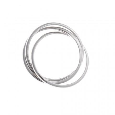 Anillo Salvatore plata -compuesto por tres aros entrelazados -239S0017