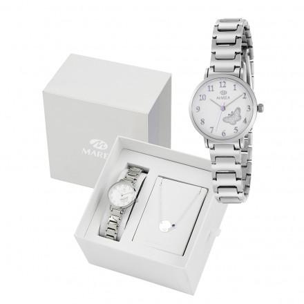 Reloj Marea plateado niña comunion mariposa fondo pulsera regalo B41248/2