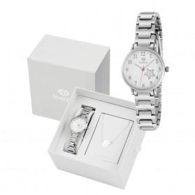 Reloj Marea infantil comunion plateado estrella fondo pulsera regalo B41248/5