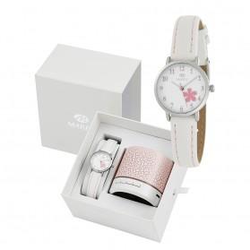Reloj Marea infantil piel blanca flor rosa - altavoz de regalo B41249/4