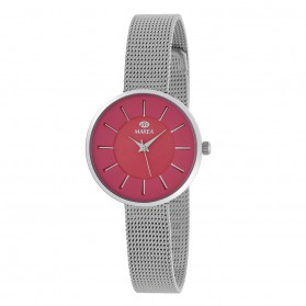 Reloj Marea mujer malla acerp fondo fucsia - B41246/6