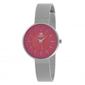 Reloj Marea mujer malla acero fondo fucsia - B41245/6