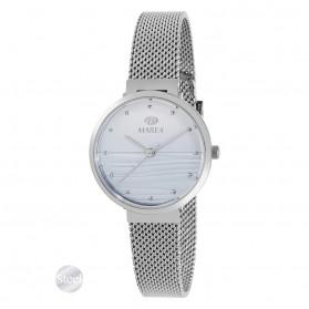 Reloj Marea mujer malla acero fondo textura