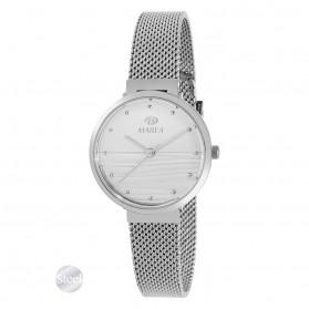 Reloj Marea mujer malla acero fondo blanco con rayas - B54163/1